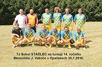 TJ Sokol STÁDLEC jako vítěz na turnaji 14. ročníku Memoriálu J. Vakoče.
