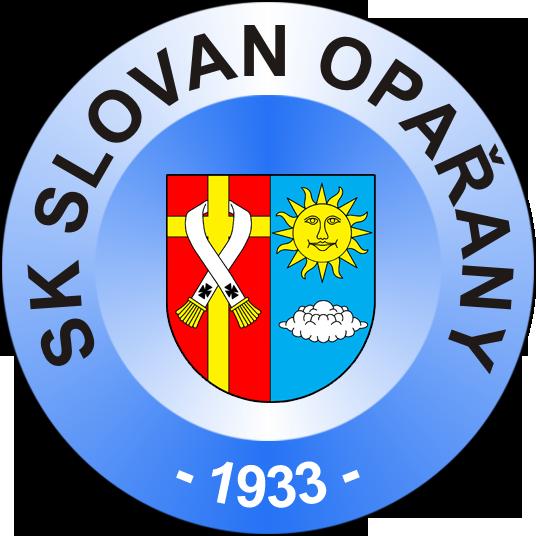 Znak SK Slovan Opařany s erbem obce Opařany
