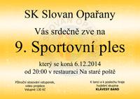 Pozvánka na 9. sportovní ples 2014