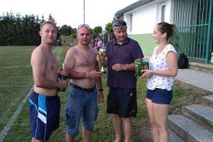 TJ Sokol STÁDLEC na turnaji 15. ročníku Memoriálu J. Vakoče 5.8.2017 (skončili jako třetí)