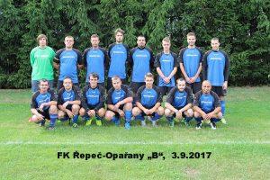 """Foto je z 3.9.2017 z 2. kola: Řepeč-Opařany """"B"""" / Radenín-Kozmice"""