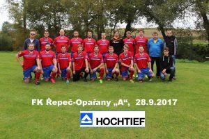 FK Řepeč-Opařany děkuje firmě HOCHTIEF za pořízení nových dresů